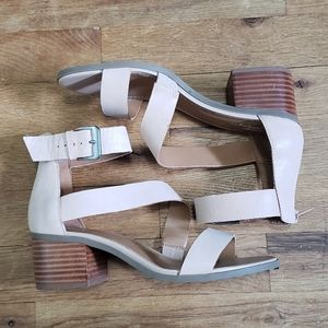 Crown Vintage nude heeled sandals